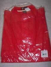 Mens Front Pocket Polo shirt Sz LG. Red/Natural  Hartwell  NWT