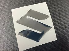 Adesivo Resinato SUZUKI 3D cromo 45 mm