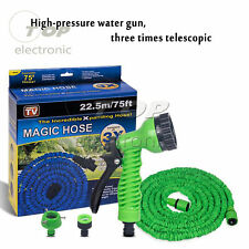 25FT-150FT Expanding Expandable Elastic Compact Garden Hose Pipe With Spray Gun