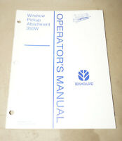1995 New Holland Windrow Pickup Attachment 350W Operator's Manual P/N 43035010