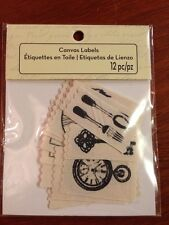 New Canvas Labels Scrapbooking Craft New in package - Etiquettes en Toile