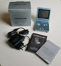 Game Boy Advance SP Artic Blue Console | Complete In Box🕹 | Good Condition