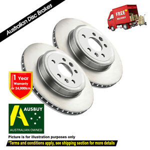 For BMW X6 xDrive E71 348mm 07/2008-12/2014 FRONT Disc Brake Rotors (2)