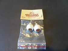 1 Pair Of New Packages Tallina's Acrylic Doll Eyes brown -20MM New Old Stock