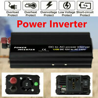 2000W Sine Wave DC 12V to AC 240V Car Power Inverter Camping Caravan Converter