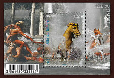 FRANCE BLOC F4440** FETE DU TIMBRE 2010 CHEVAUX /  HORSES SHEET MNH