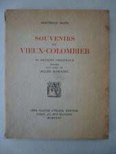 MAHN (Berthold), ROMAINS (Jules). Souvenirs du Vieux-Colombier - 1926. Ex. num.