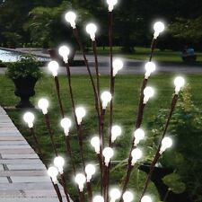 2 x 60cm Garden LED Twig Lights Solar Tree Lights Decor Lighting Outdoor Lights