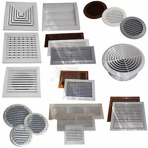 Air Vent Grille Cover Ventilation Grill Covers or Gravity Flaps or Adjustable