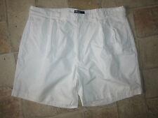 Mens Designer POLO by RALPH LAUREN White Cotton Shorts Size UK 40 GREAT!