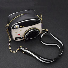 Women Camera Shape Shoulder Bag Cute Zipper Handbag Cross Body Bag Small Purse