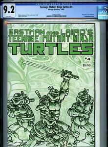 Teenage Mutant Ninja Turtles #4 (1985) Mirage CGC 9.2 White Eastman Laird