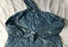 Vintage Lacoste Izod Blue Gator Half Zip Hooded Windbreaker 80s Jacket sz Large
