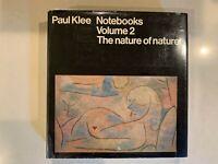 Paul Klee Notebooks Volume 2 The Nature Of Nature - HC Art Book VTG RARE