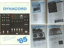 DYNACORD PRO AUDIO BROCHURE (1985) MIXING CONSOLE, POWER AMP, SPEAKER, TURNTABLE