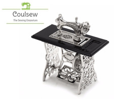 MINI METAL TREADLE SEWING MACHINE Miniature Small Sewing Room Ornament U201