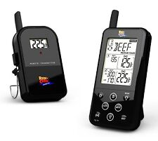 Wireless Meat Thermometer BBQ Smoker Long Range Dual Probe Set Custom Settings