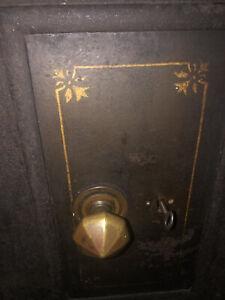 Cast Iron Vintage Floor Safe