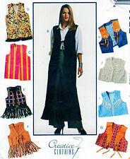 "UNCUT Sewing pattern McCall's 6622 Misses' VEST WAISTCOAT Bust 31 1/2""-32 1/2"""