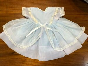 Vintage Blue Sheer, Lace Baby Doll Dress Size See Measurements