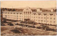 Postcard CA Casa del Rey Hotel, Santa Cruz California, Ford Model Ts, c.1920s