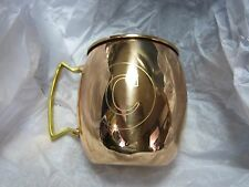 Jodhpuri 20 oz Moscow Mule Mug Initial Letter C Copper Brass Handle Monogram Cup