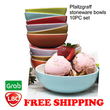 Pfaltzgraff stoneware ceramic bowls 10pc set NOT corelle pyrex corningware