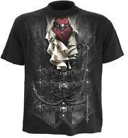 SPIRAL DIRECT WAISTED T-Shirt Biker/Waistcoat/Rock/Gothic/Victorian/Goth/Top/Tee