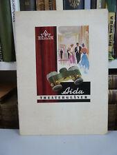 Kleine Papp Werbetafel für Aida Theatergläser mit Sehtestsymbolen. ca. 25x18cm
