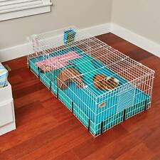 Guinea Habitat Plus Guinea Pig Cage by MidWest w/ Top Panel, 47Lx24Wx14H Inches