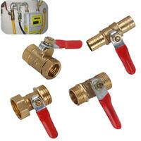 1/8'' 1/4'' 3/8 1/2'' Barb Brass Shut-off Ball Valve Water Gas Fuel Line Thread