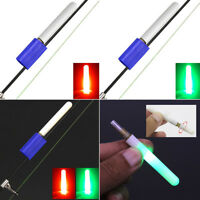 1pc LED Night Fishing Rod Tip Clip Glow Stick Bite Alarm Light Fishing Float