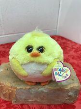 Ty Beanie Ballz Eggbert Yellow Chick Used