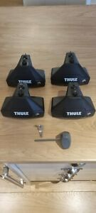 Thule Evo Clamp Footpack 7105 - Pack of 4 with 2 key