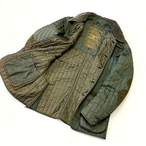 Men's Barbour Tokito Sporting Quilt Jacket Green Olive Quilted Jacket Size M