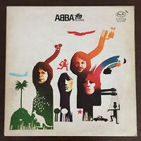 ABBA  The Album 1st Greek Press Vinyl 1977 Pan-Vox GF Record LP ORG Rare VG+/VG+