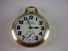 Antique early 16s Hamilton 992B Railway Special pocket watch 1940 21j high grade