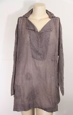NEW - MAGNOLIA PEARL -ANALINA GINGHAM TUNIC TOP - BLUEBERRY  JAM - ONE SIZE