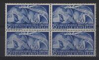 Italy 1949 UPU block of four, MNH sg725