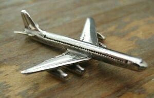 A Novelty Hallmarked Sterling Silver Miniature Airplane / Aeroplane - Figurine