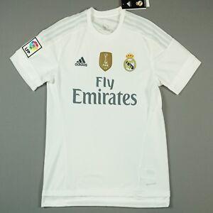 REAL MADRID season 2015 16 M medium Home Football Shirt Jersey BRAND NEW