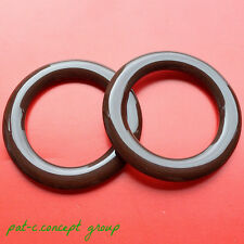TWO pieces Solid Brown Acrylic TOTE/PURSE Strap/Handbag HANDLE ROUND O-RINGS