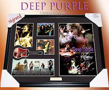 DEEP PURPLE MUSIC MEMORABILIA SIGNED FRAMED, LIMITED EDITION TO 499 w/ COA