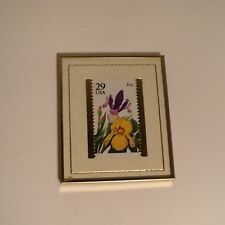 Limited Edition #238/10,000 Framed 29 Cent Usa Iris Stamp Issued May 15, 1993