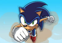 SONIC THE HEDGEHOG  PLACEMAT A4 LAMINATED