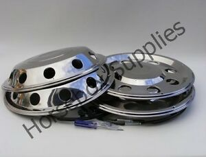 """19.5"""" STAINLESS STEEL WHEEL TRIMS FOR YOUR TRUCK"""