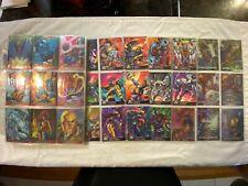 1995 Fleer Ultra X-Men All-Chromium Trading Card Master Set SEE DESCRIPTION