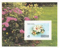 Grenada flowers block $2 - MNH
