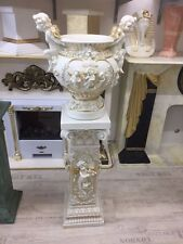 Säule + Vase Barock Style Set Dekosäule Griechische Engel Medusa Styl 1073+0864