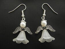 Christmas Earring Making Kit In Organza Bag - Snow  Angel